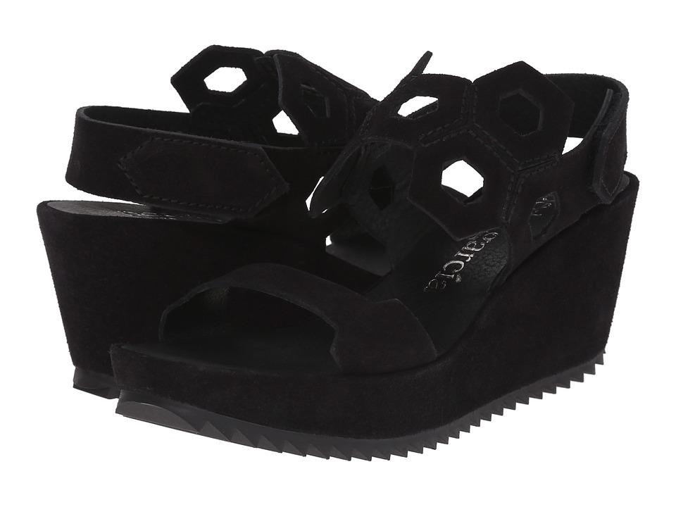 Pedro Garcia - Fermina (Black Castoro) Women's Wedge Shoes