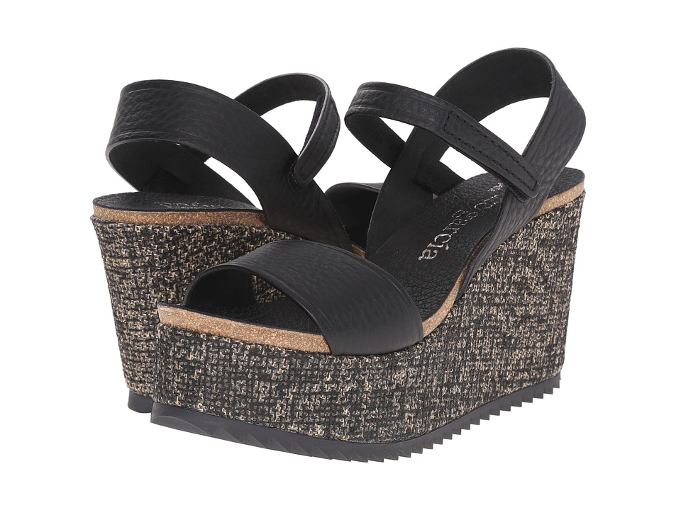 Pedro Garcia - Dorothy (Black Cervo) Women's Wedge Shoes
