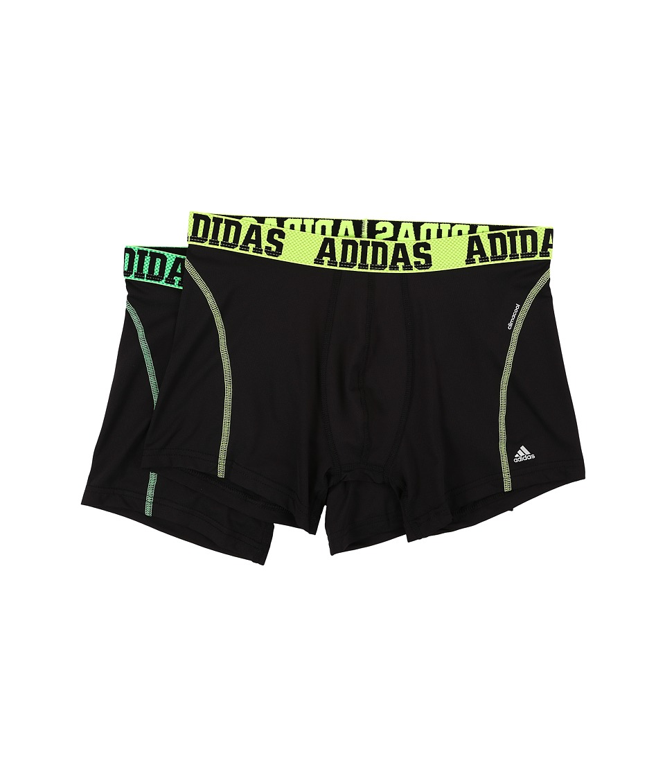 adidas - Sport Performance ClimaCool 2-Pack Trunk (Black/Solar Yellow/Flash Green) Men's Underwear