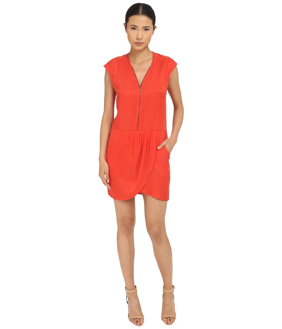 The Kooples - Cupro Dress (Orange) Women's Dress