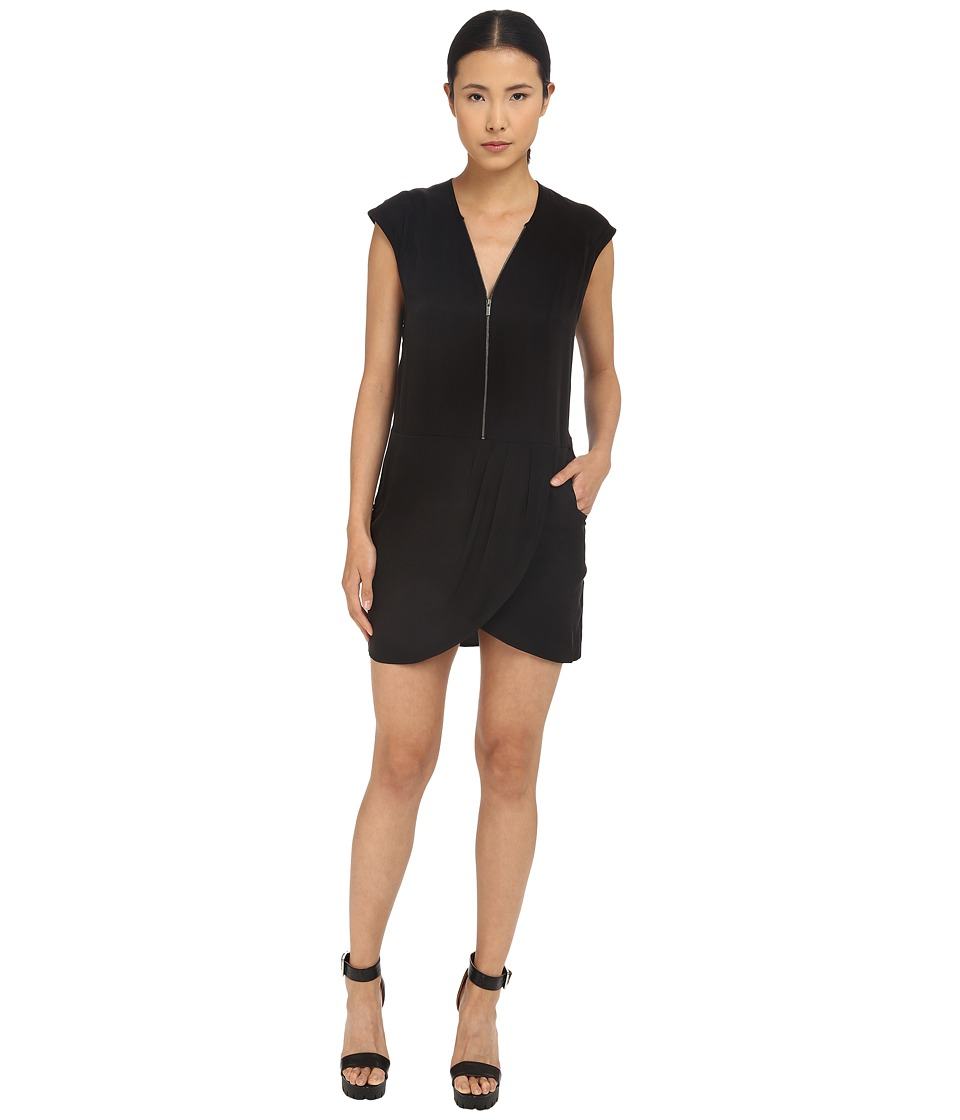 The Kooples - Cupro Dress (Black) Women's Dress
