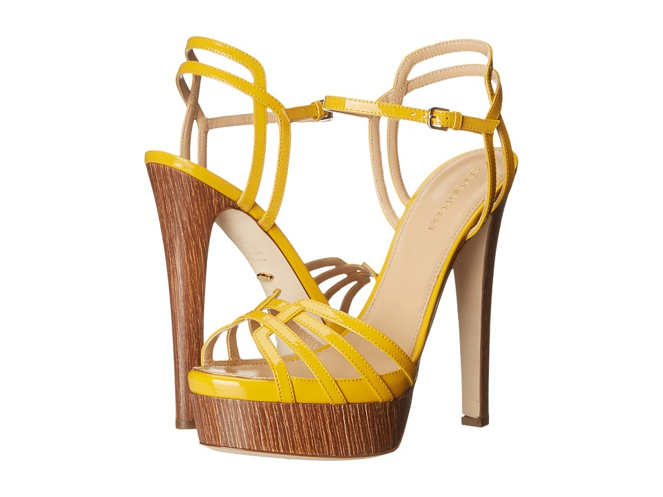 Sergio Rossi Paloma (Sunshine Patent Wood) High Heels