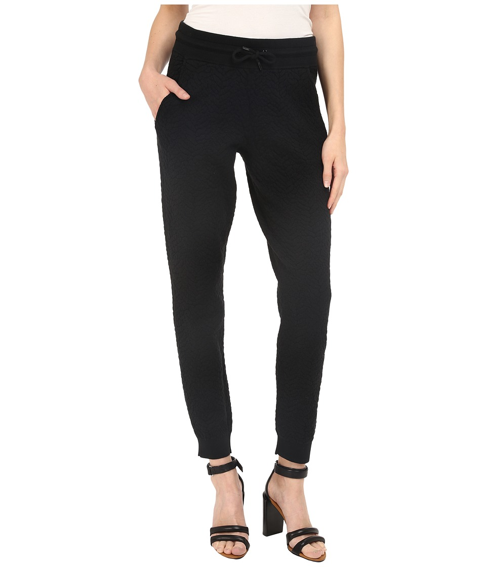 The Kooples - Fleece Type Trousers (Black) Women's Casual Pants