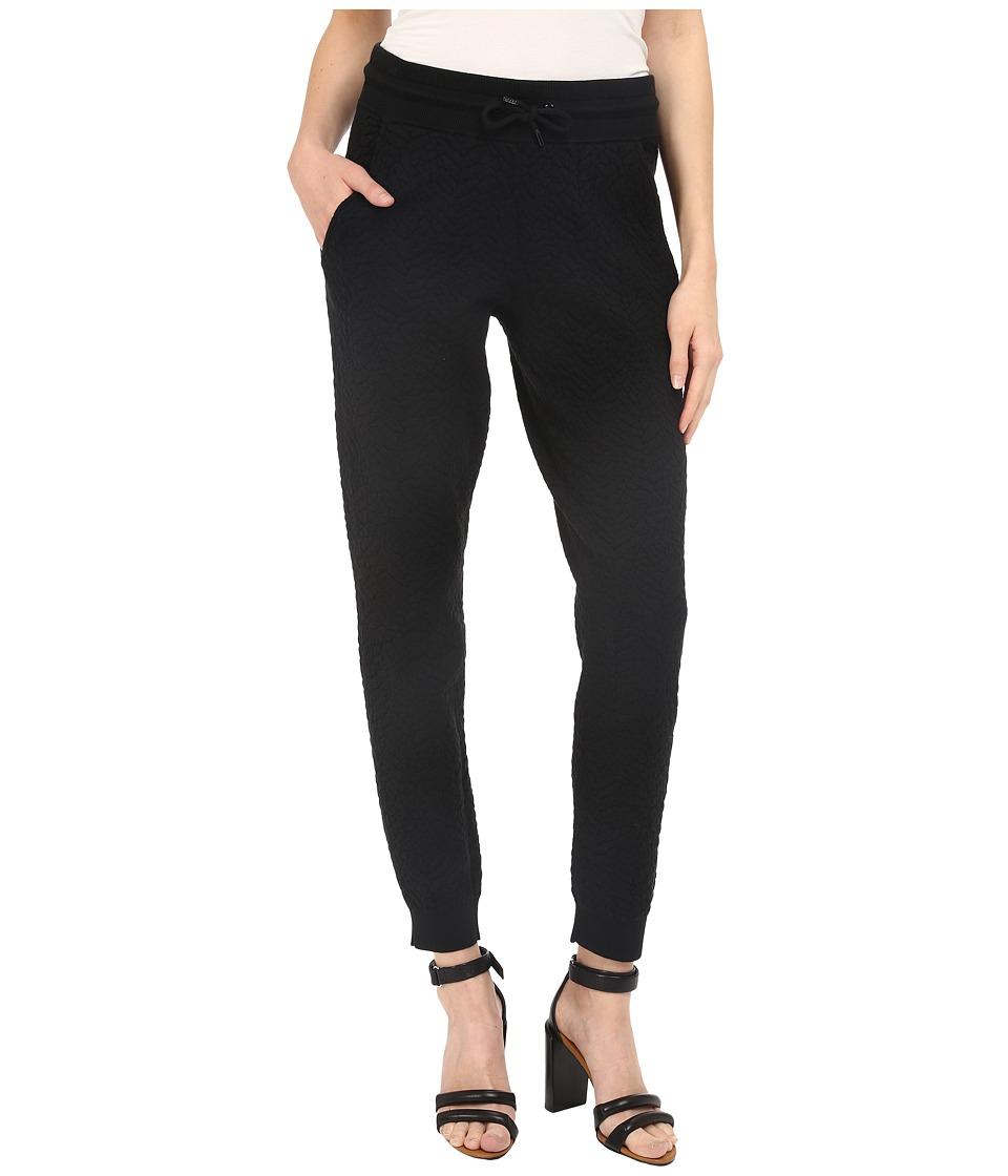The Kooples - Fleece Type Trousers (Black) Women's Casual Pants