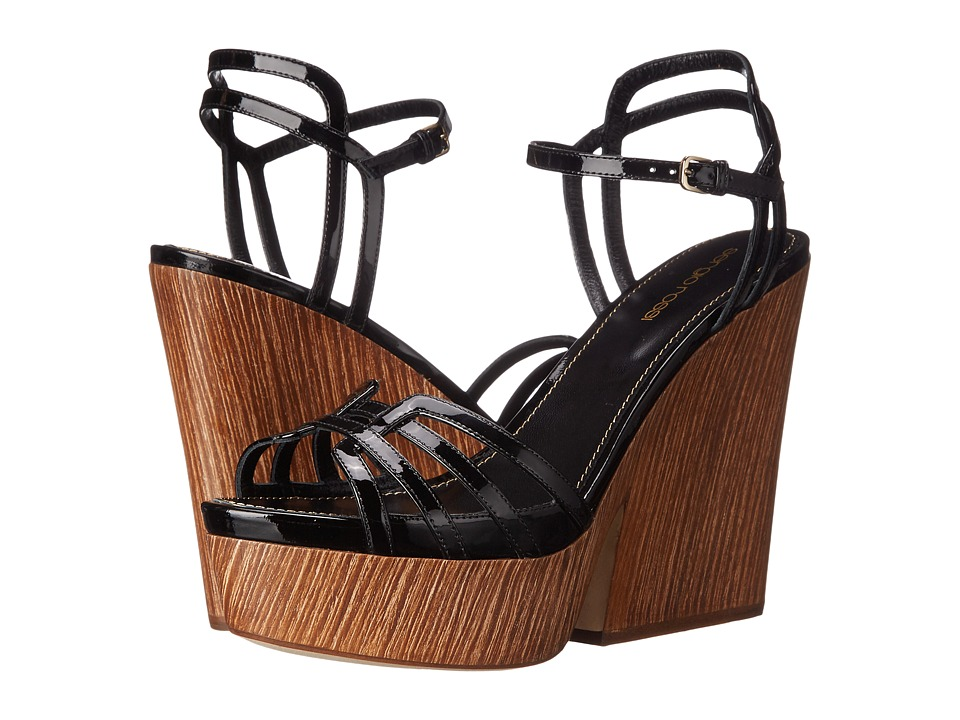 Sergio Rossi Paloma (Black Patent Wood) High Heels