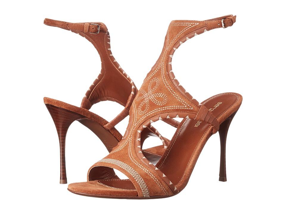 Sergio Rossi Maya (Demi Cuir Suede Embroidery) High Heels