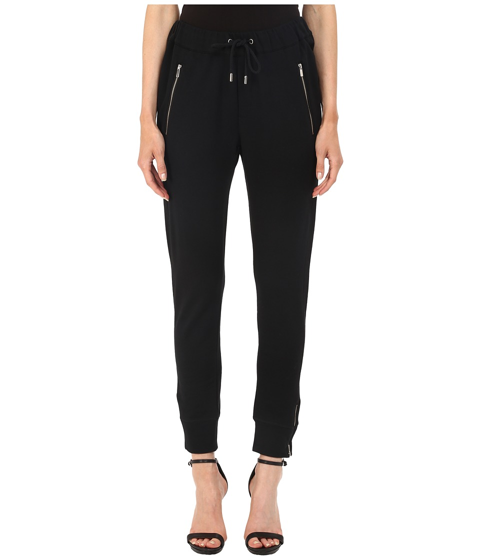 The Kooples - Box Jogging Trousers in Stretch Fleece (Black) Women's Casual Pants