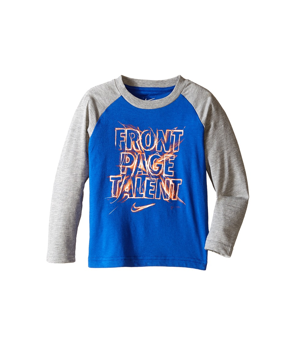 Nike Kids - Front Page Talent Long Sleeve (Toddler) (Reflex Blue) Boy's T Shirt