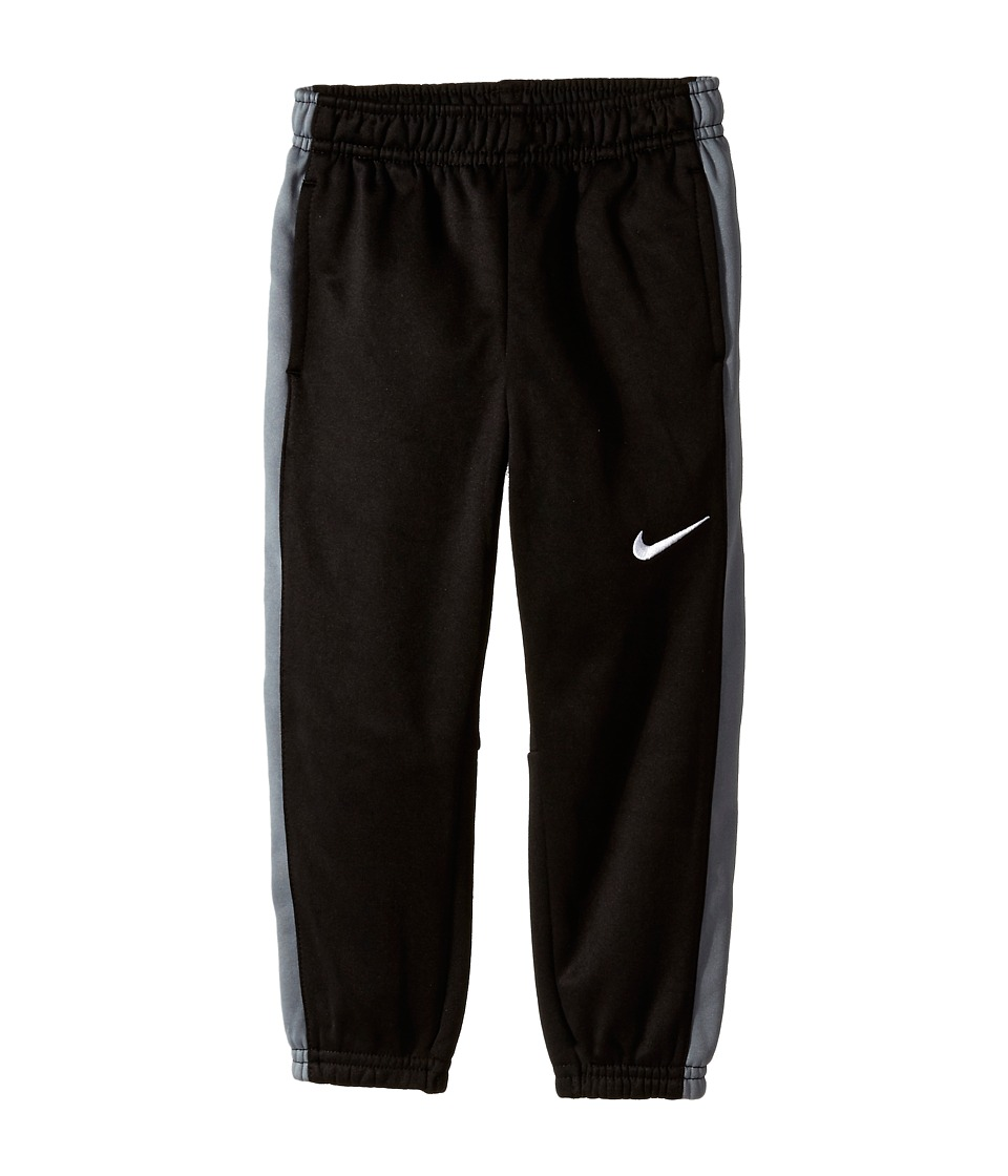 Nike Kids - Fleece Cuff Pants (Little Kids) (Black/Grey) Boy's Casual Pants