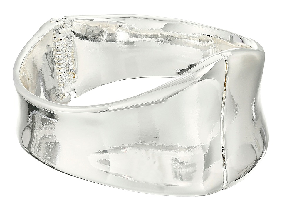 Robert Lee Morris - Wide Hinge Bangle Bracelet (Shiny Silver) Bracelet