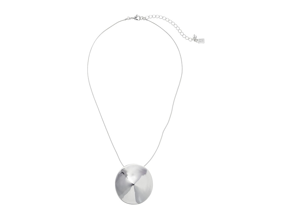 Robert Lee Morris - Disc Pendant Necklace (Silver) Necklace