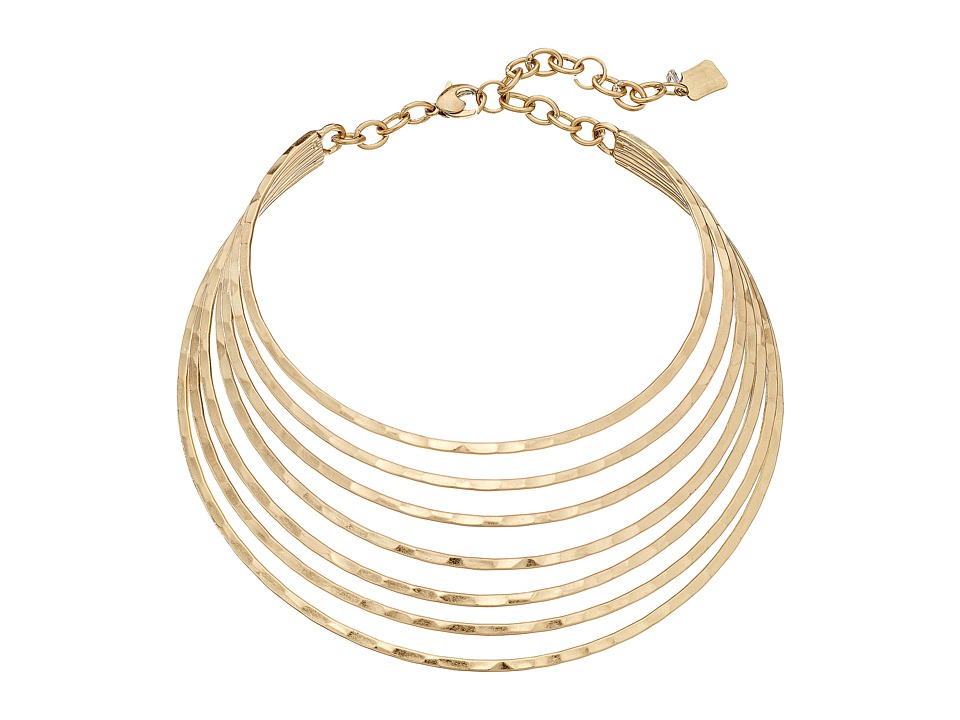 Robert Lee Morris - Multi Row Collar Necklace (Soft Gold) Necklace