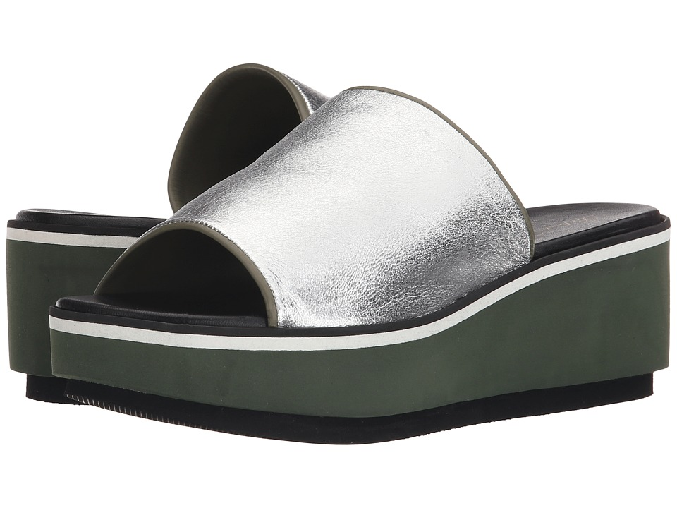Robert Clergerie - Pole (Silver Nappa) Women's Toe Open Shoes