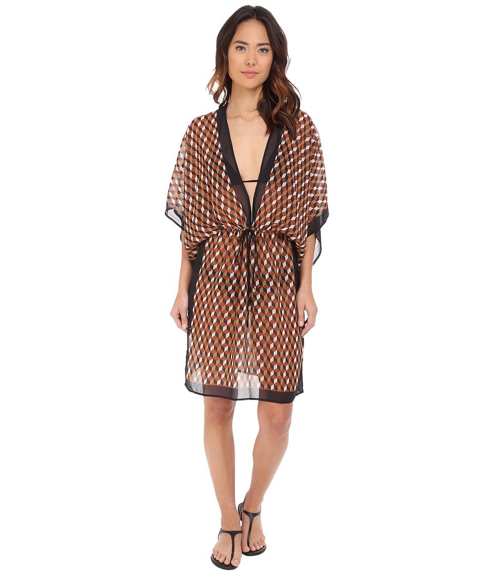 Michael Kors - Deco Hexagon Dress Cover-Up (Carmel Multi) Women's Swimwear