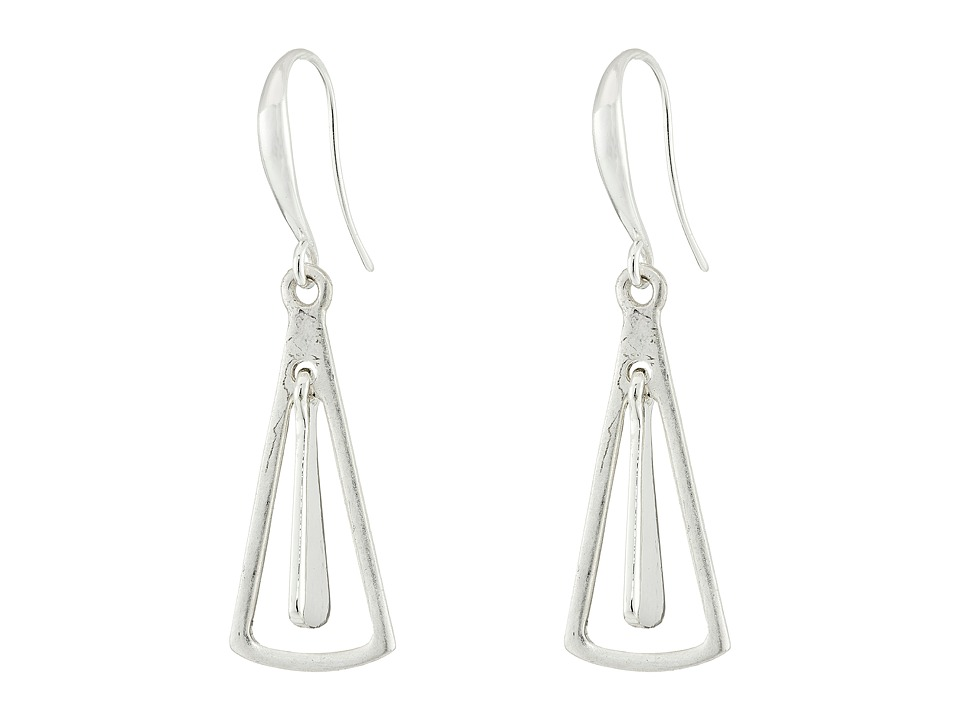 Robert Lee Morris - Triangle Orbital Drop Earrings (Silver) Earring