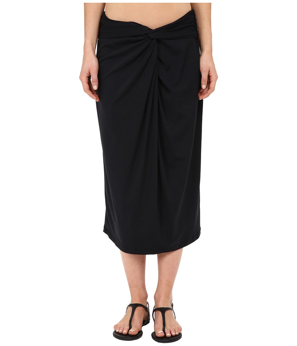Michael Kors - Drapey Jersey Front Twist Skirt Cover-Up (Black) Women's Swimwear