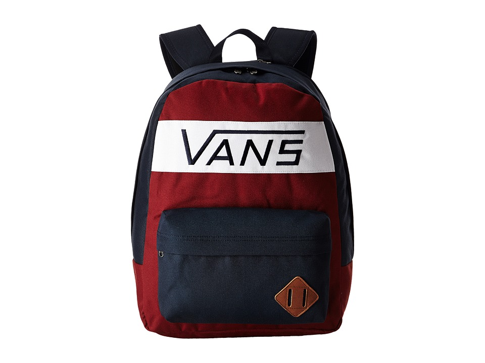 Vans - Old Skool Plus Backpack (Rhubarb/Dress Blues) Backpack Bags