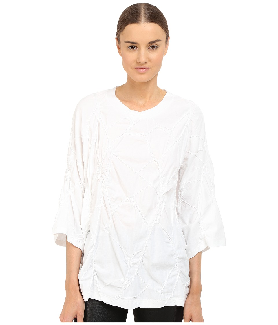 Y's by Yohji Yamamoto - Oversized Cable T-Shirt (White) Women's Long Sleeve Pullover