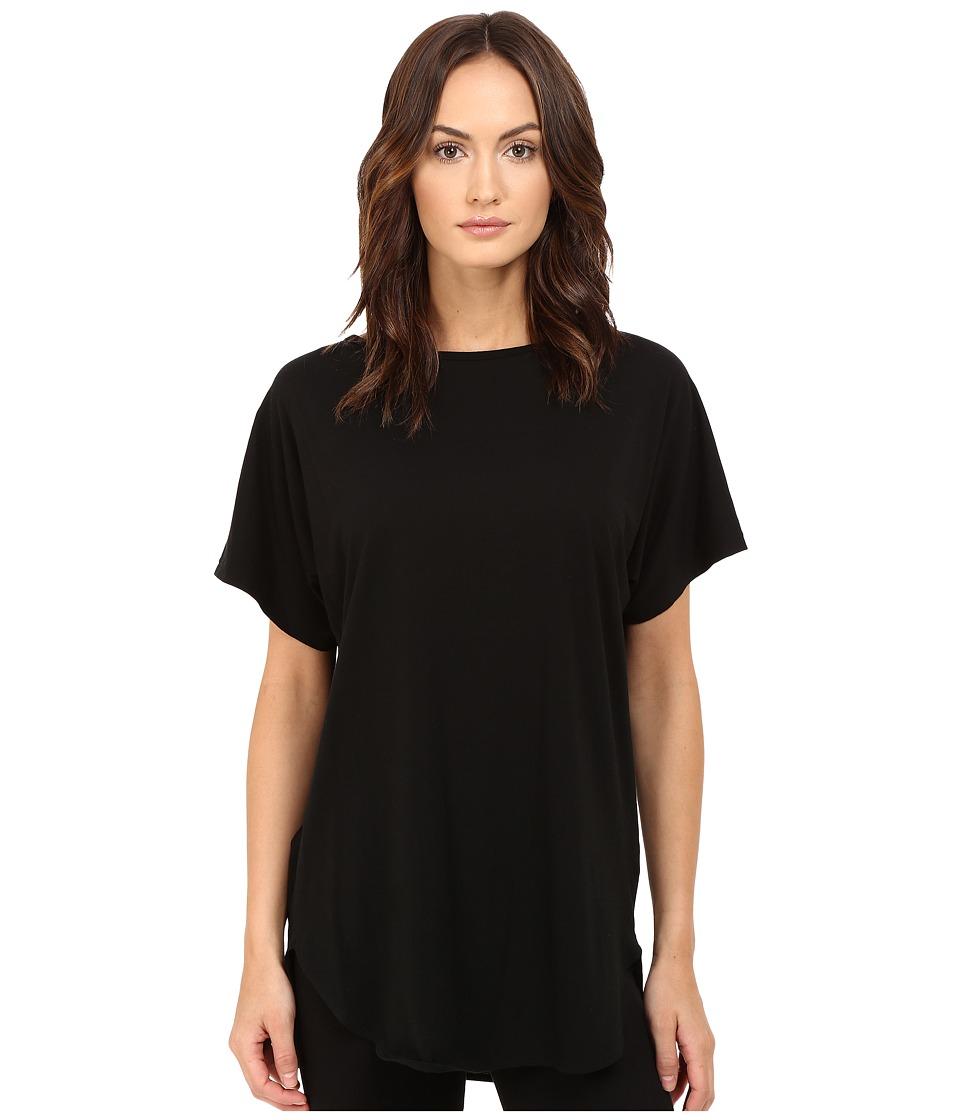 Y's by Yohji Yamamoto - U-Gusseted T-Shirt (Black) Women's T Shirt