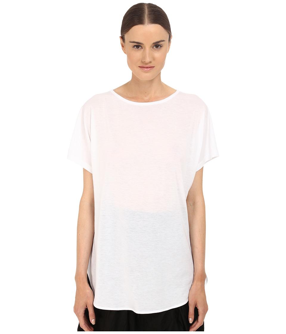 Y's by Yohji Yamamoto - U-Gusseted T-Shirt (White) Women's T Shirt