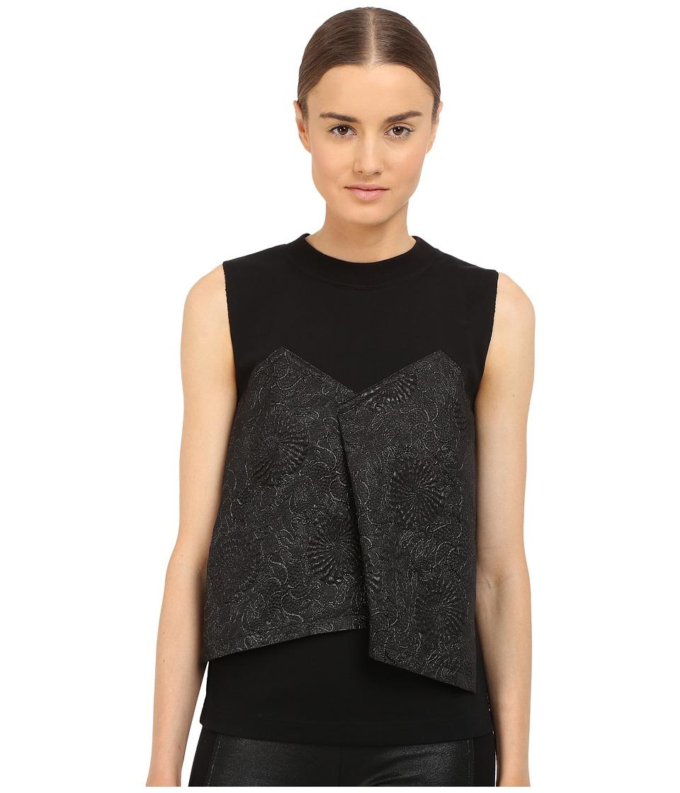 Y's by Yohji Yamamoto - Bustier T-Shirt (Black) Women's Sleeveless