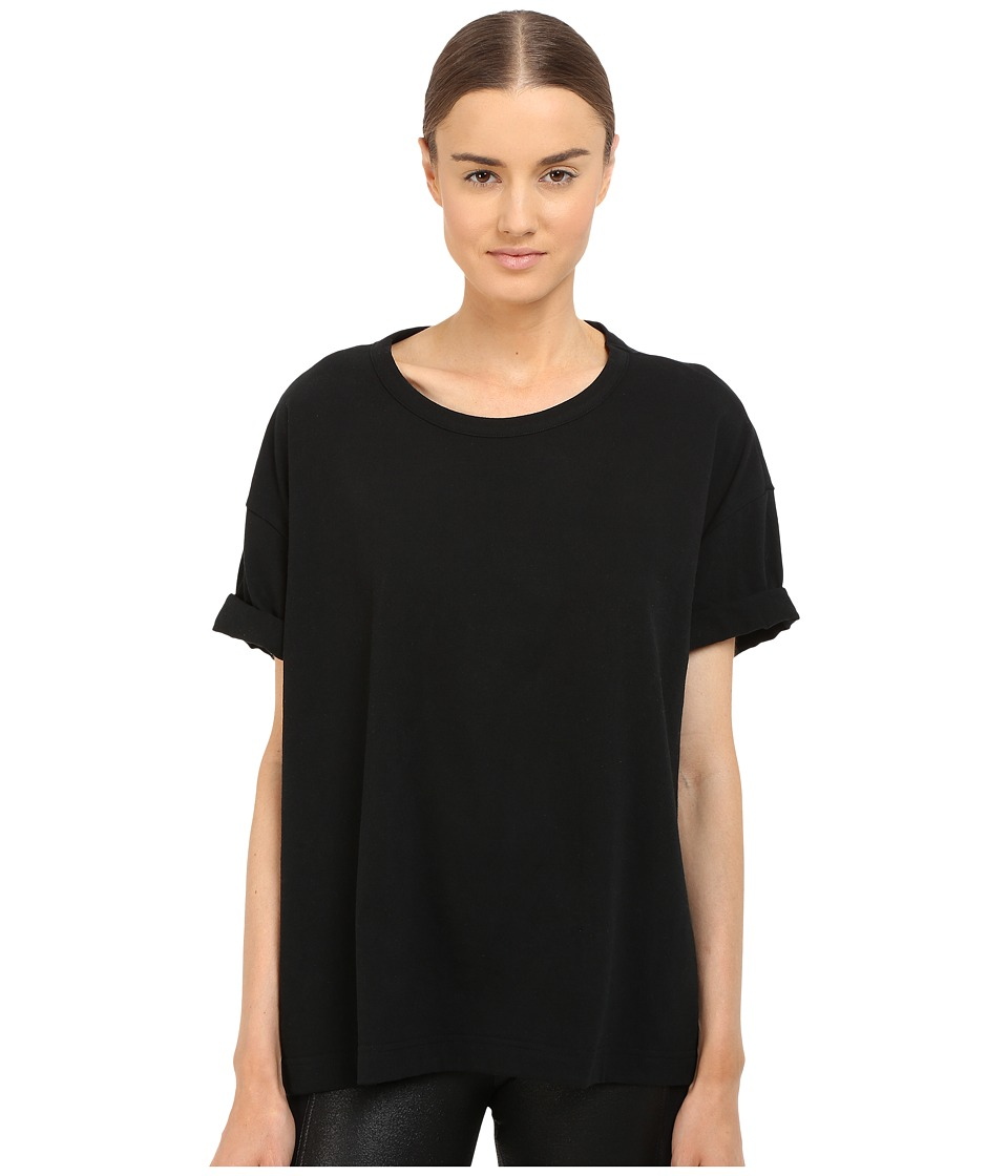 Y's by Yohji Yamamoto - Oversized T-Shirt (Black) Women's Short Sleeve Pullover