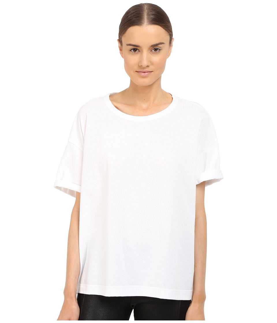 Y's by Yohji Yamamoto - Oversized T-Shirt (White) Women's Short Sleeve Pullover
