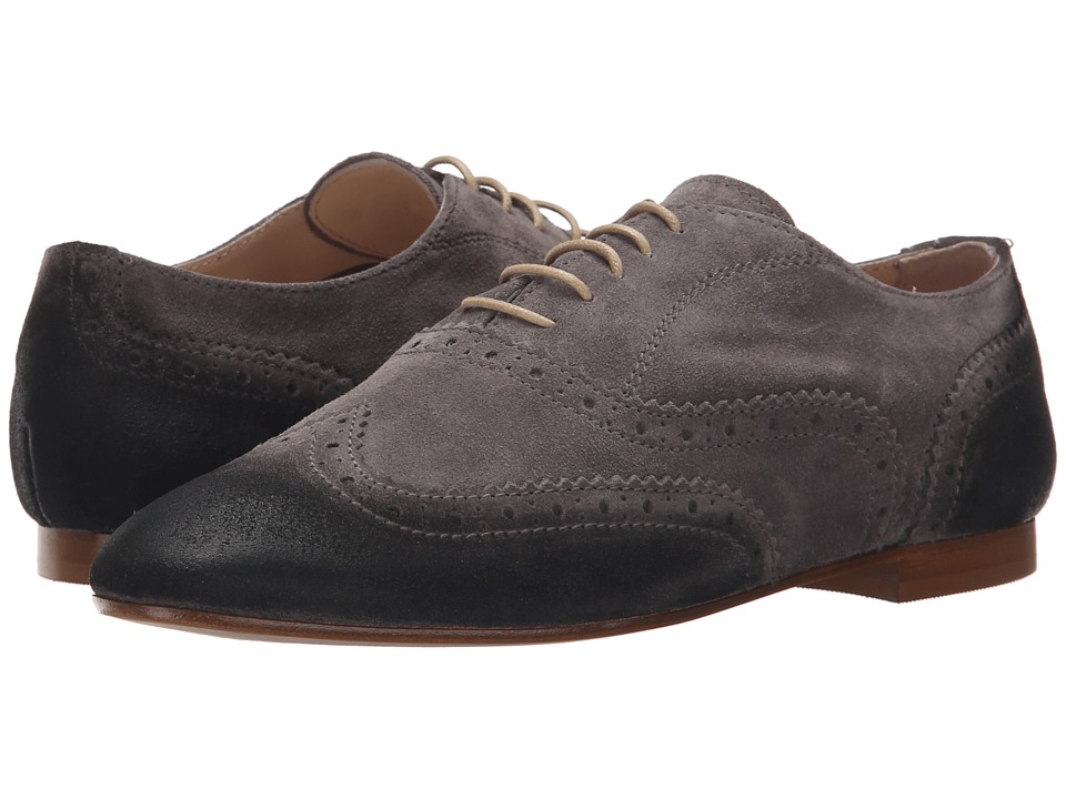 Massimo Matteo - Donatella (Grigio) Women's Lace Up Wing Tip Shoes