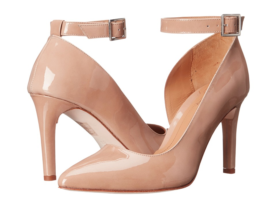 Massimo Matteo - Pump w/ Strap (Nude Patent) Women's Shoes