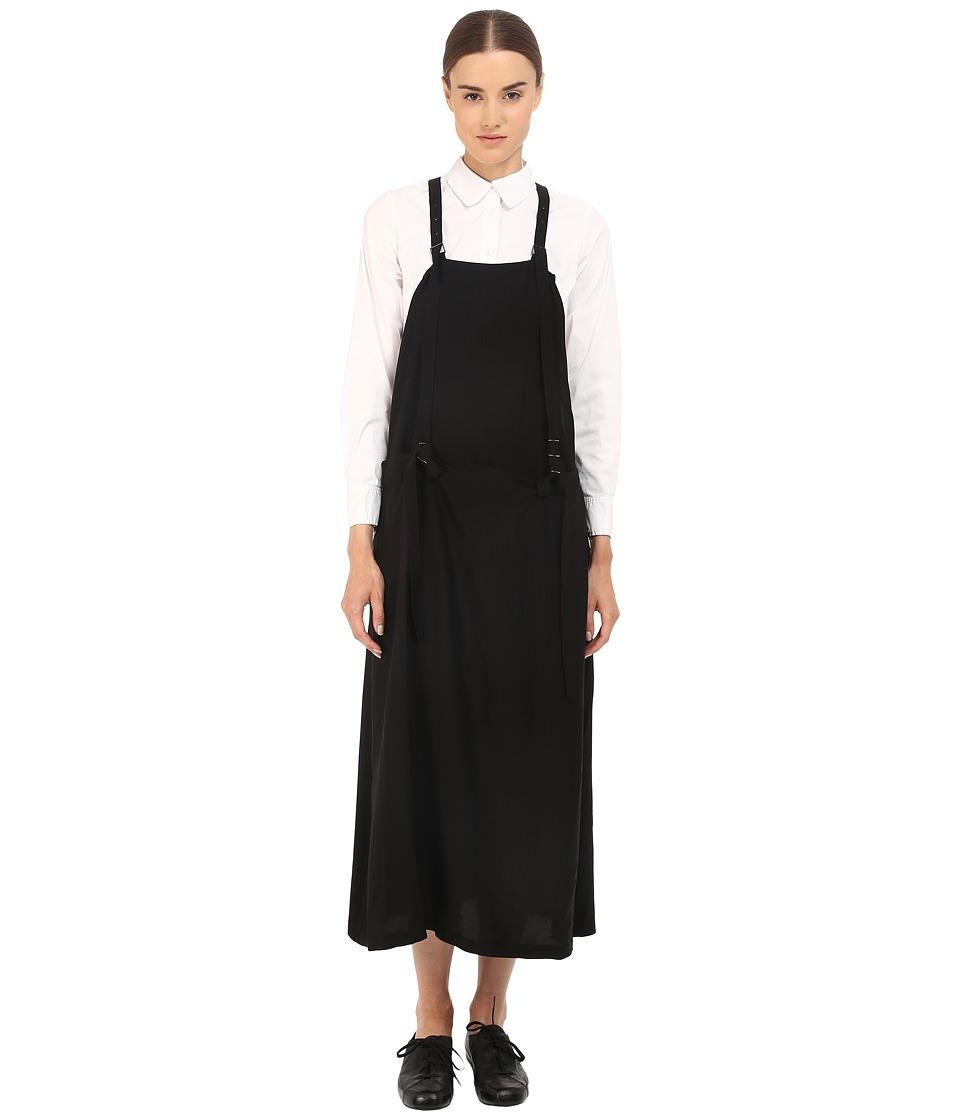 Y's by Yohji Yamamoto - Apron Dress (Black) Women's Dress