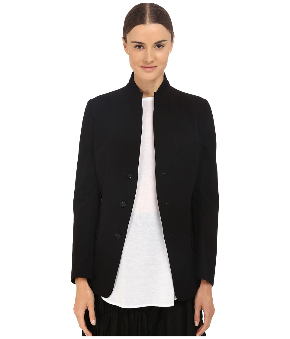 Y's by Yohji Yamamoto - U-Stand Up Collar Reversible Blazer Jacket (Black) Women's Jacket