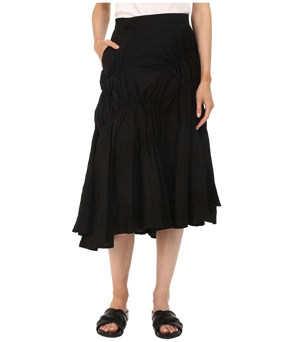 Y's by Yohji Yamamoto - Random Gather Skirt (Black) Women's Skirt