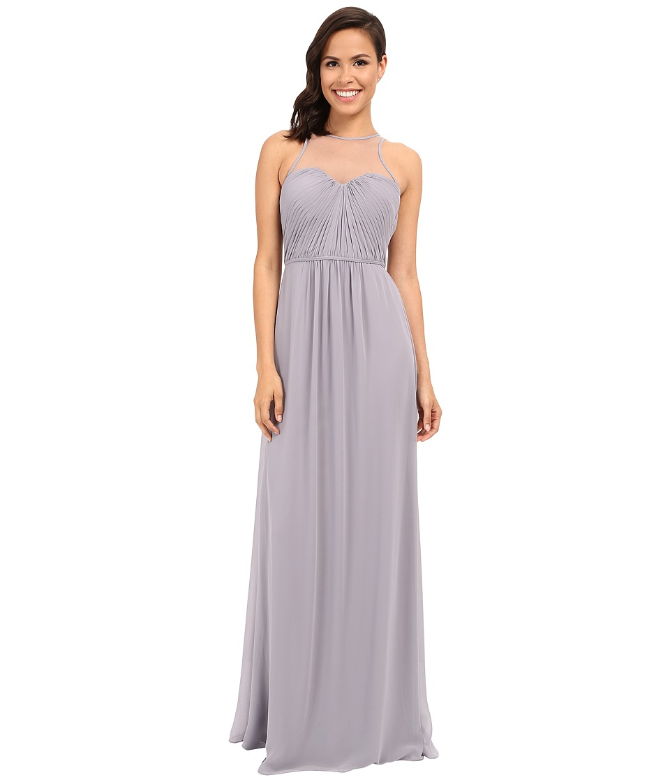 Faviana - Chiffon Gown with Illusion Sweetheart Neckline/Rouched Bodice Keyhole Back 7774 (Dove Grey) Women's Dress