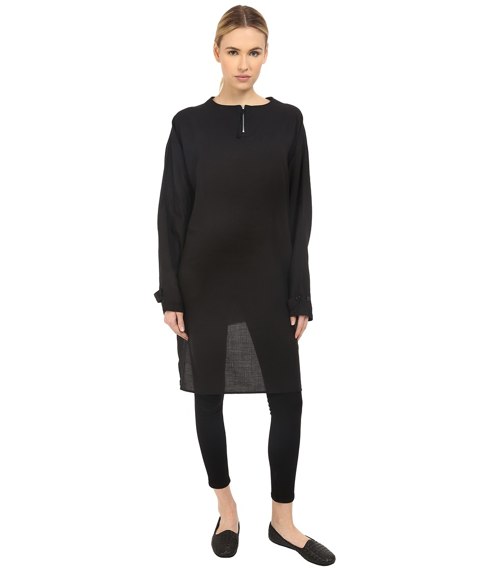 Y's by Yohji Yamamoto - Military Pullover Top (Black) Women's Clothing