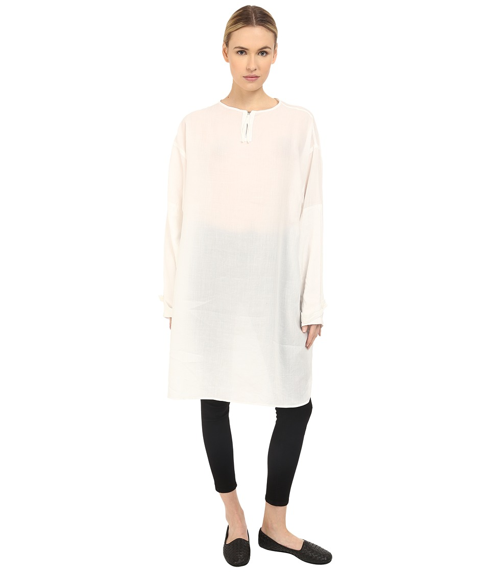 Y's by Yohji Yamamoto - Military Pullover Top (White) Women's Clothing