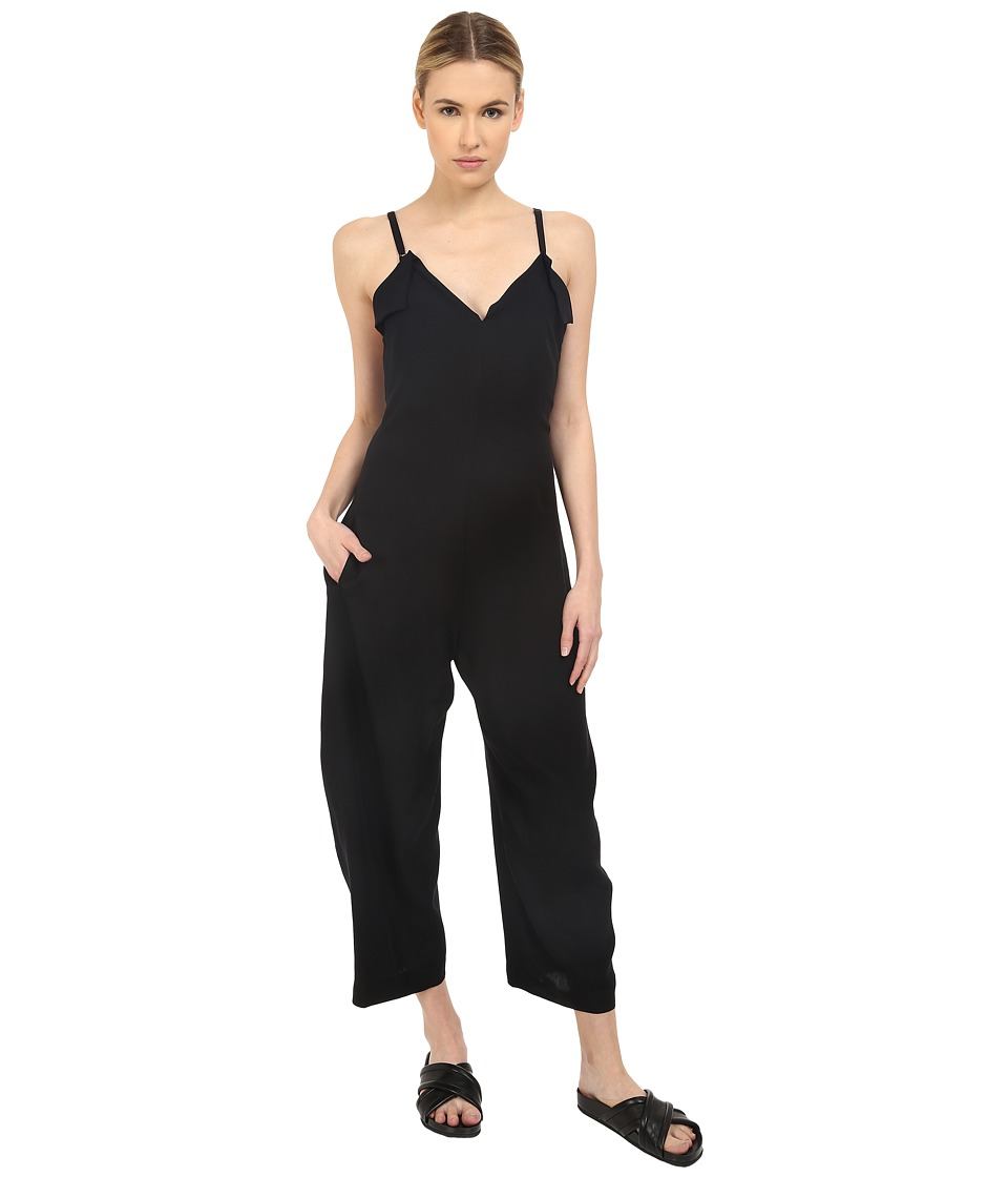 Y's by Yohji Yamamoto - Strap Overall Jumpsuit (Black) Women's Jumpsuit & Rompers One Piece