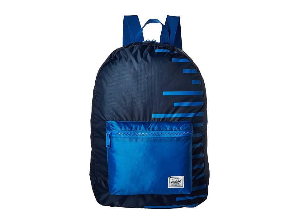 Herschel Supply Co. - Packable Daypack (Navy/Cobalt Stripes) Backpack Bags