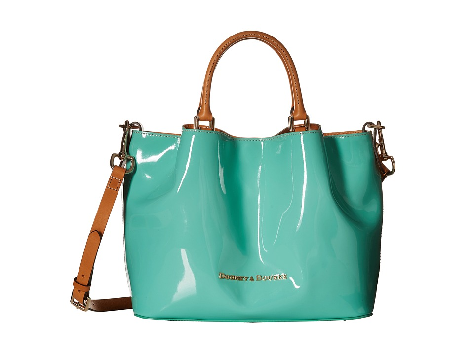 Dooney & Bourke - City Patent Barlow (Celery w/ Butterscotch Trim) Handbags