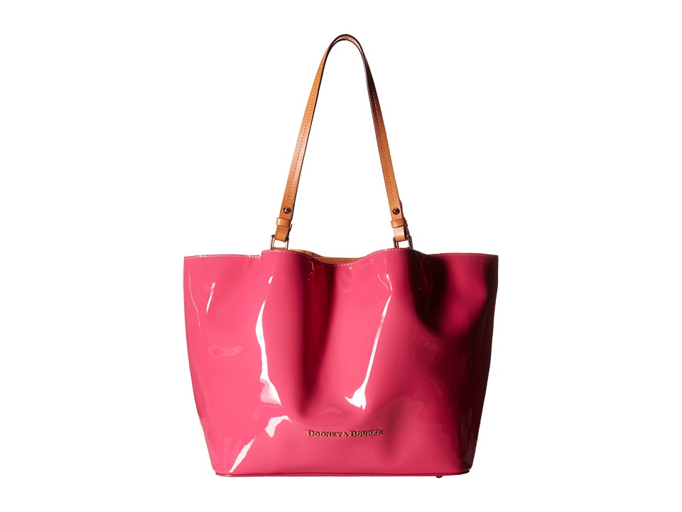 Dooney & Bourke - City Flynn (Fuchsia w/ Butterscotch Trim) Tote Handbags