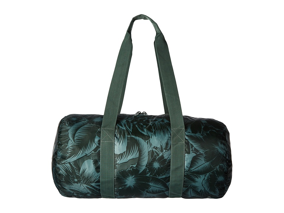 Herschel Supply Co. - Packable Duffle (Jungle Floral Green) Duffel Bags