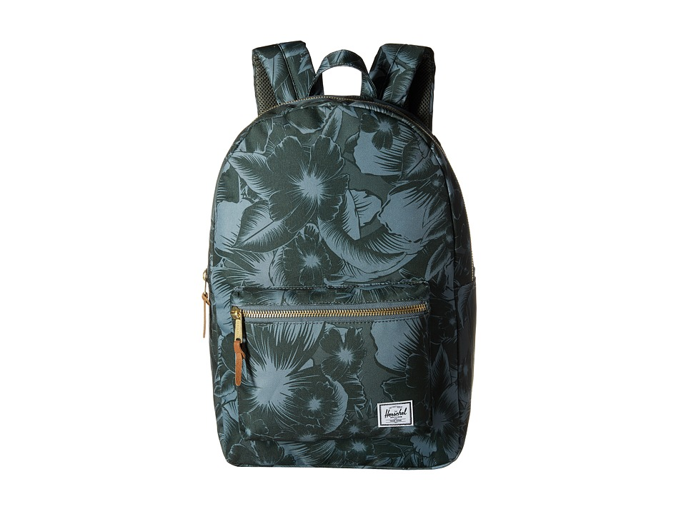 Herschel Supply Co. - Settlement (Jungle Floral Green) Backpack Bags
