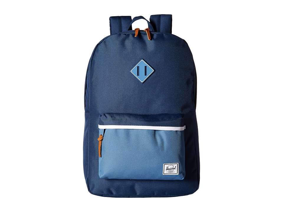 Herschel Supply Co. - Heritage (Navy/Captain's Blue/Captain's Blue Rubber/White) Backpack Bags