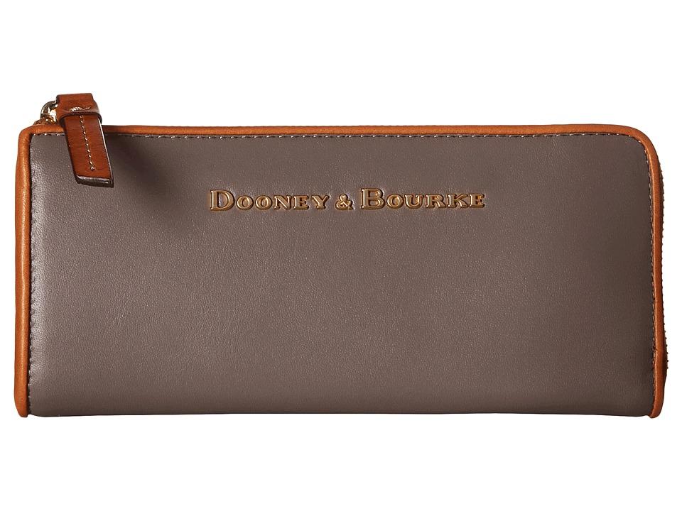 Dooney & Bourke - City Zip Clutch (Taupe w/ Natural Trim) Clutch Handbags