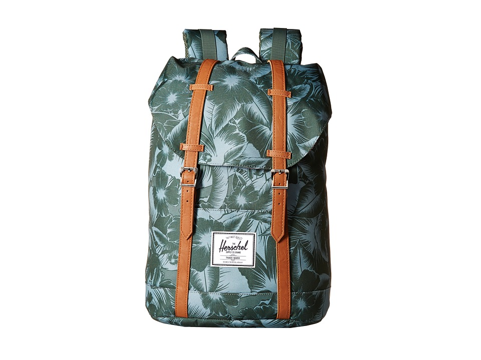 Herschel Supply Co. - Retreat (Jungle Floral Green) Backpack Bags