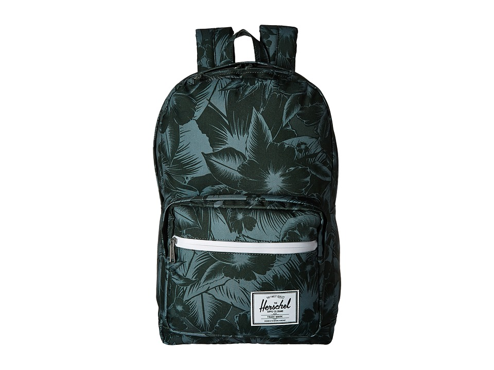 Herschel Supply Co. - Pop Quiz (Jungle Floral Green) Backpack Bags