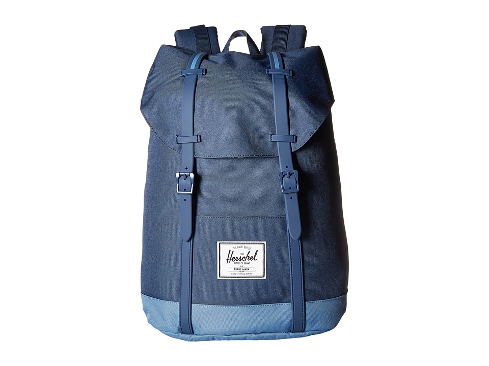Herschel Supply Co. - Retreat (Navy/Captain's Blue/Navy Rubber/Captain's Blue Insert) Backpack Bags