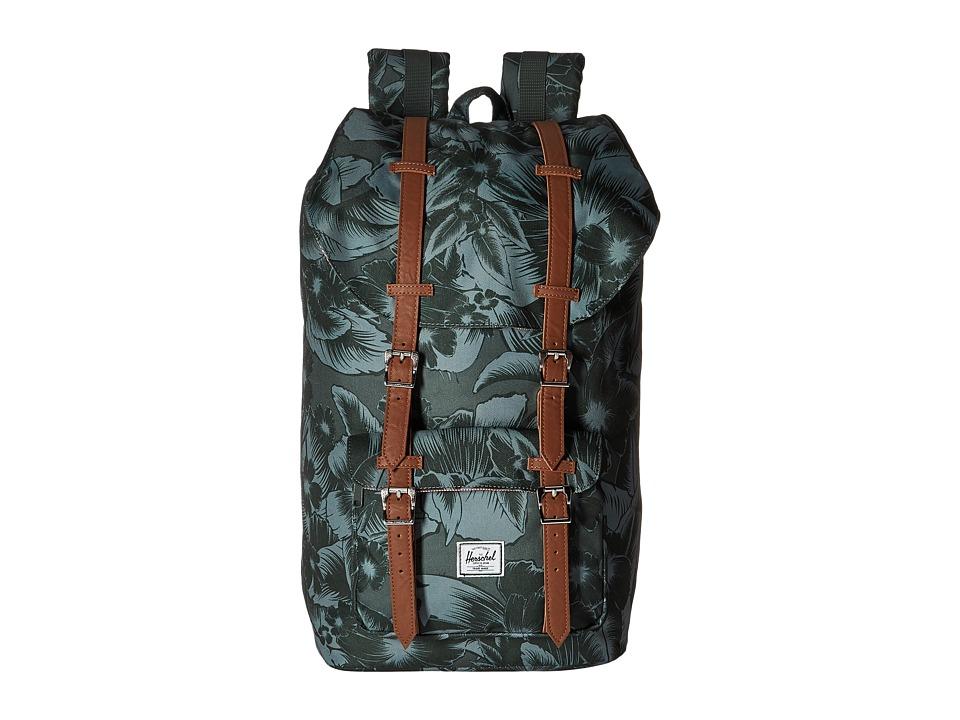 Herschel Supply Co. - Little America (Jungle Floral Green) Backpack Bags