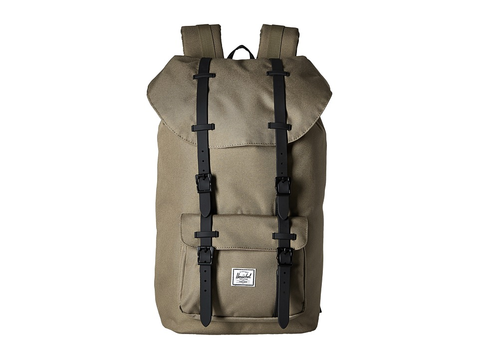 Herschel Supply Co. - Little America (Lead Green/Black Rubber) Backpack Bags