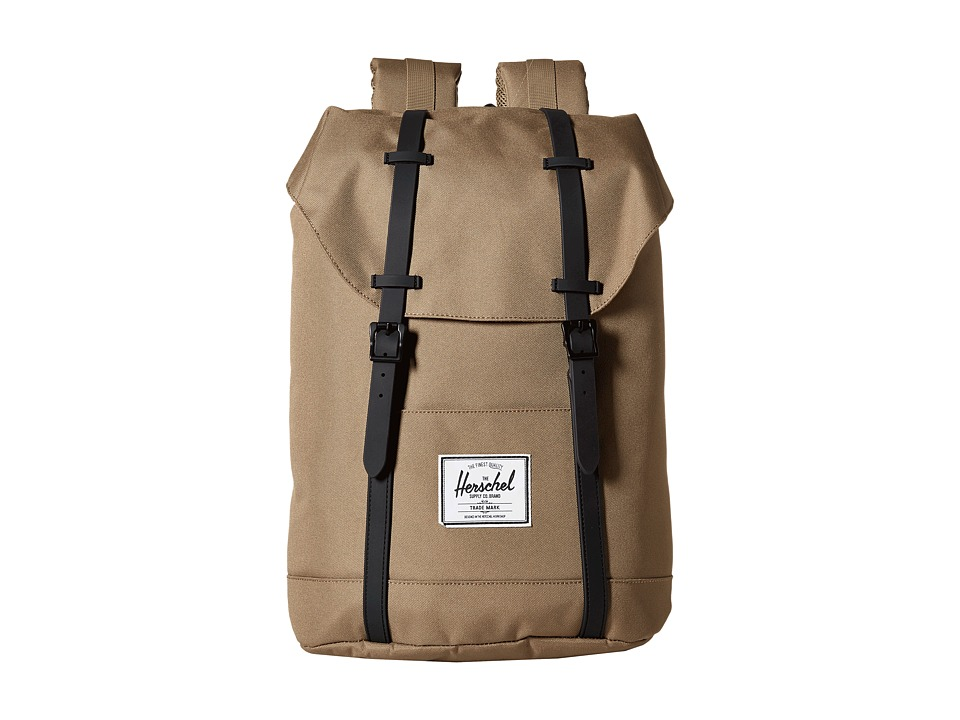 Herschel Supply Co. - Retreat (Lead Green/Black Rubber) Backpack Bags