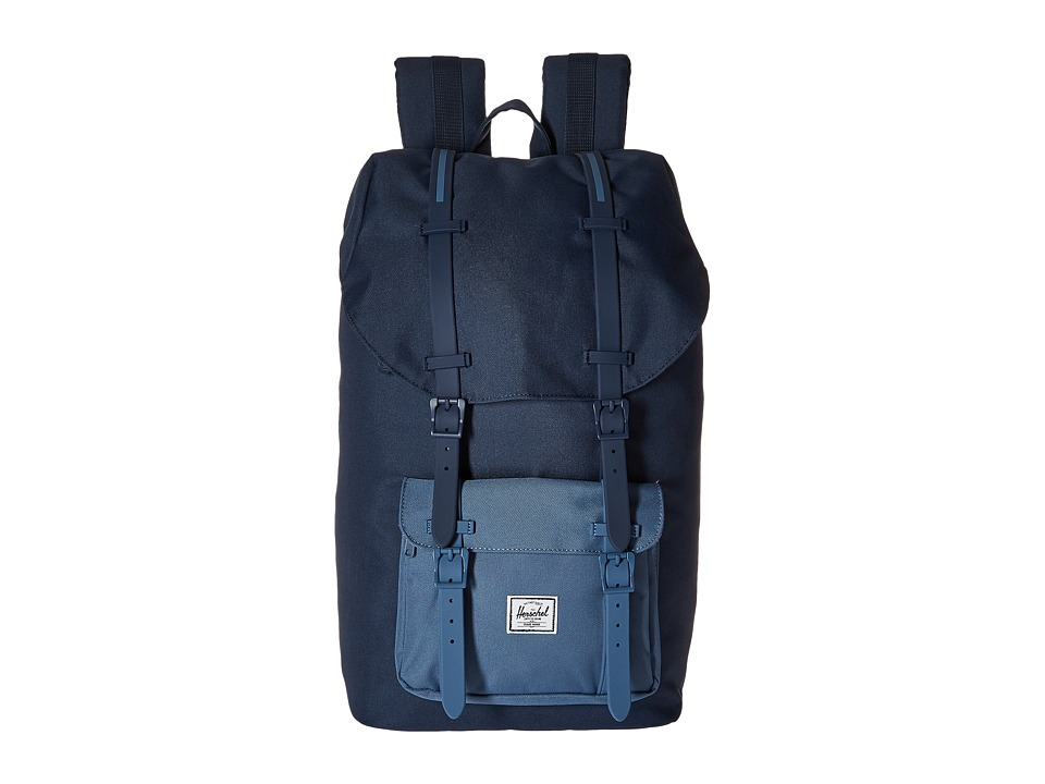 Herschel Supply Co. - Little America (Navy/Captain's Blue/Navy Rubber/Captain's Blue Insert) Backpack Bags